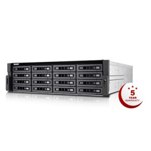 QNAP QNP-TVS-EC1680U-SAS-RP R2 16-bay 12Gbps SAS-enabled high-performance NAS/iSCSI/IP-SAN - 8GB