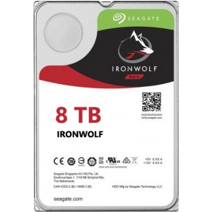 Seagate NAS IronWolf 8TB, 256MB CACHE, 7200rmp, SATA 6GB for NAS 24x7 - ST8000VN0022