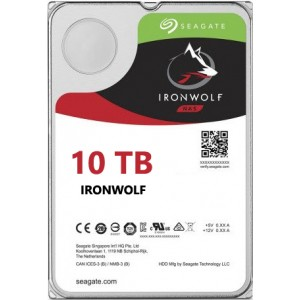 Seagate NAS IronWolf 10TB, 256MB CACHE, SATA 6GB for NAS 24x7 - ST10000VN0004