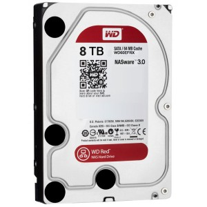 WD 8TB, IntelliPower, 64MB CACHE, SATA 6GB for NAS 24x7 -WD80EFZX