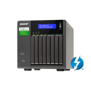 QNAP TVS-882ST3 8-bay 2.5-inch Thunderbolt™ 3 NAS with 10GbE connectivity -i5-8G