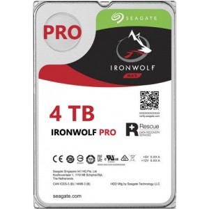 Seagate NAS IronWolf Pro 4TB, 128MB CACHE, 7200rmp, SATA 6GB for NAS 24x7 - ST4000NE0025