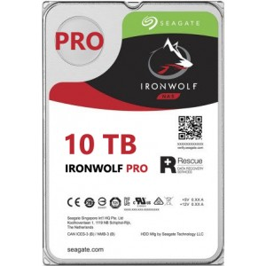 Seagate NAS IronWolf Pro 10TB, 256MB CACHE, 7200rmp, SATA 6GB for NAS 24x7 -  ST10000NE0008