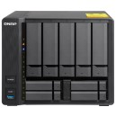 "QNAP QNP-TS-932X-8G Slim & Big 9-bay hybrid NAS supporting 3.5"" & 2.5"" drives with dual 10GbE ports"