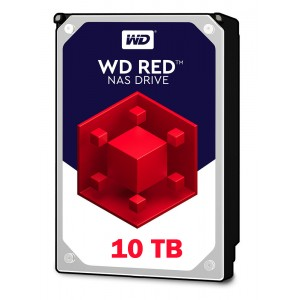 WD Red 10TB, 256MB CACHE, 5400 rpm, SATA 6GB for NAS 24x7 -WD100EFAX