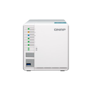 QNAP QNP-TS-351 Cost-effective 3-bay RAID 5 NAS with two M.2 SSD slots (PCIe Gen2 x1) - 2G