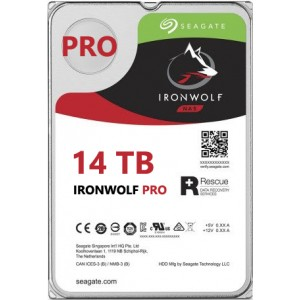 Seagate NAS IronWolf Pro 14TB, 256MB CACHE, 7200rmp, SATA 6GB for NAS 24x7 - ST14000NE0008