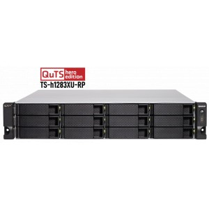 QNAP TS-h1283XU-RP Powered by QuTS hero — a ZFS-based operating system with greater reliability and higher performance - 32G
